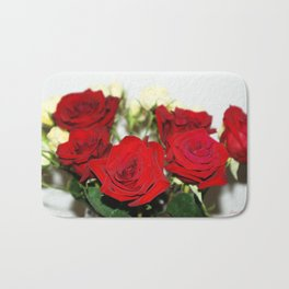 Red and yellow roses Bath Mat