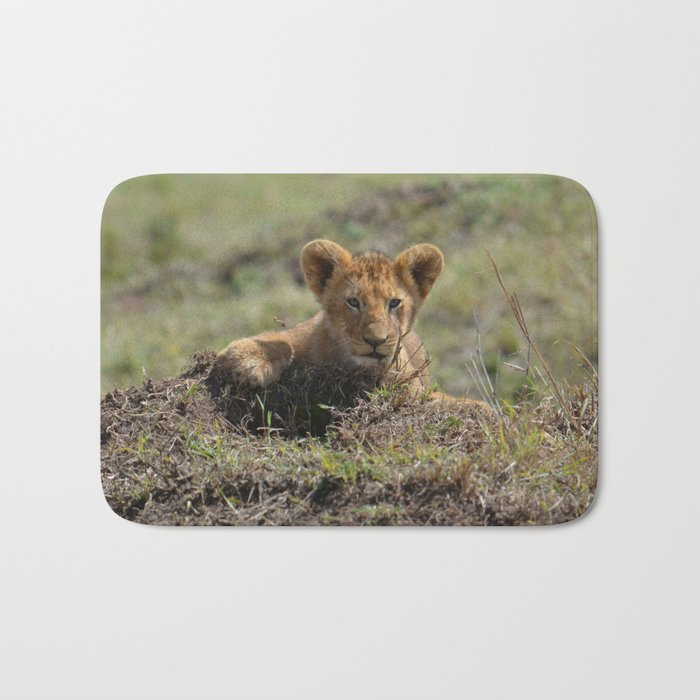 Adorable Lion Cub Bath Mat