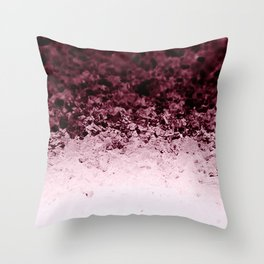 Burgundy CrYSTALS Ombre Gradient Throw Pillow