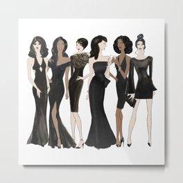 Girls' Night Metal Print