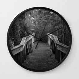 Burn a Bridge Wall Clock