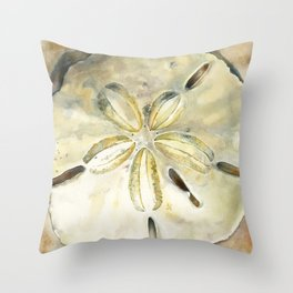 Dollar in the Sand Throw Pillow