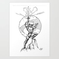thundercats Art Prints featuring Lion-O Thundercats by GPap