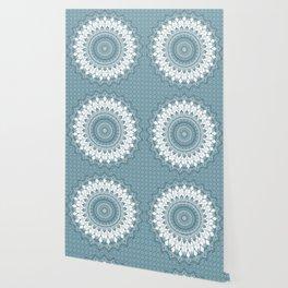 Boho Blue Mandala Wallpaper