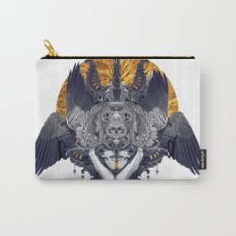 Black Feathers Carry-All Pouch