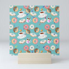 Coffee and Doughnuts Mini Art Print
