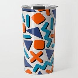 90s Retro Memphis Pattern Travel Mug