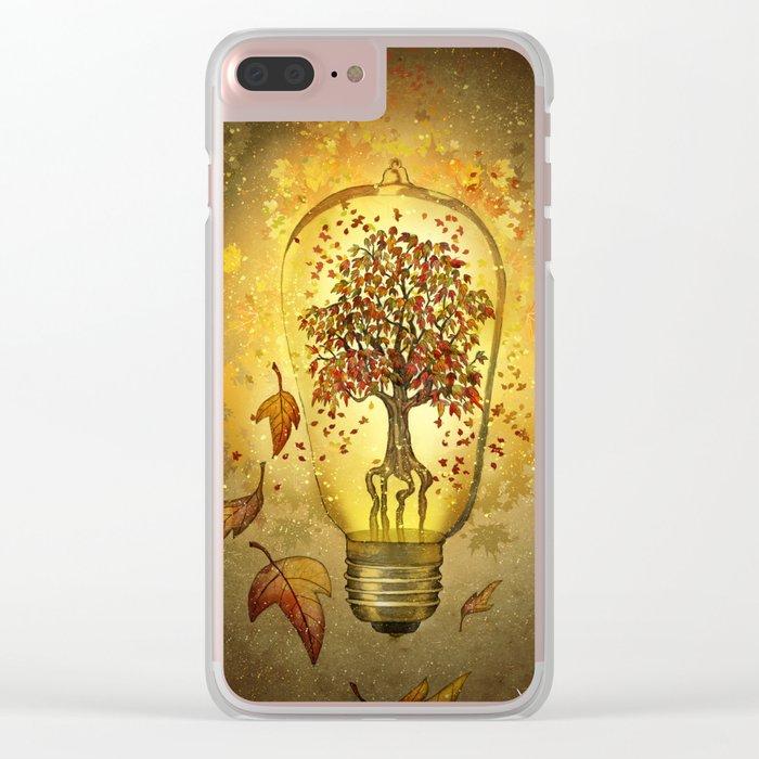 Autumn light Clear iPhone Case