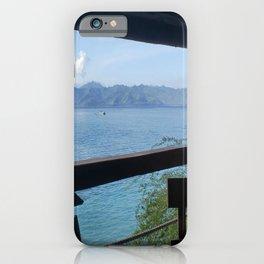 Blue sky and ocean tees iPhone Case