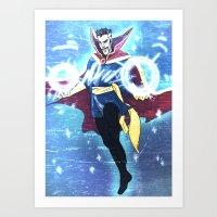 enerjax Art Prints featuring Doctor Strange by enerjax