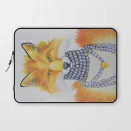 Fox Fur and Pearls Laptop Sleeve