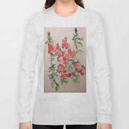 Blind Contour Snapdragon Long Sleeve T-shirt