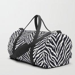 Zebra fur texture Duffle Bag
