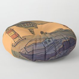 In Love with the Sea / Lighthouses Fuencaliente Floor Pillow