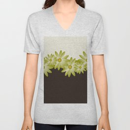 Green Daisy Unisex V-Neck