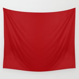 Solid Red Wall Tapestry