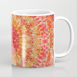 Flaming Star Mandala Coffee Mug