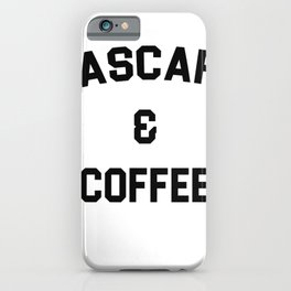 GrayFox Women's Mascara and Coffee Tshirt Gift for Makeup Artists, Female Large - Purple iPhone Case