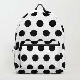 Polkadots (Black & White Pattern) Backpack