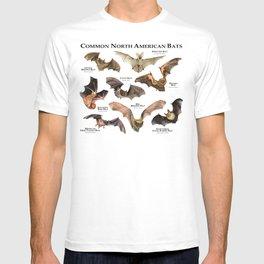 Common North American Bats T-shirt