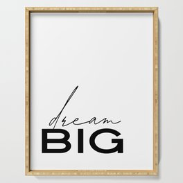 Dream Big Print Poster Art for Boys Girls Room Kids Room Scandi Nursery Art Modern Nursery Print Mon Serving Tray