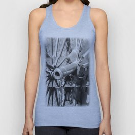 The cannon (black & white version) Unisex Tank Top