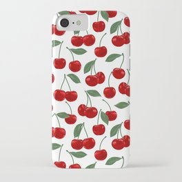 red cherry pattern iPhone Case