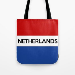 netherlands country flag name text Tote Bag