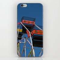 ferris wheel iPhone & iPod Skins featuring Ferris Wheel by Steve Purnell