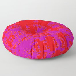 jitter, red violet, 3 Floor Pillow