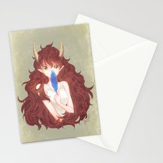 The smell of blue Stationery Cards