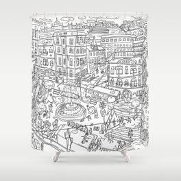 Budapest X Shower Curtain