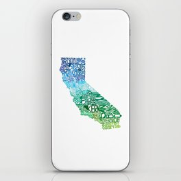 Typographic California - Cool iPhone Skin