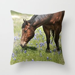 Don't Eat The Bluebonnets Throw Pillow
