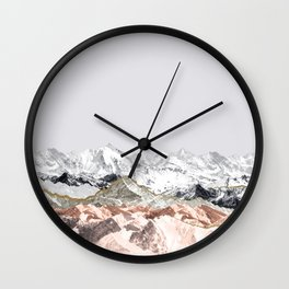 Pastel Mountains I Wall Clock