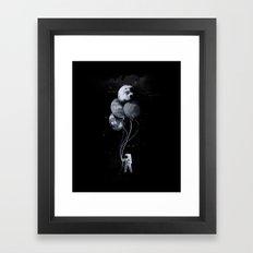 The spaceman's trip Framed Art Print