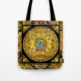 Buddhist Mahakala Mandala Golden Kalarupa Tote Bag