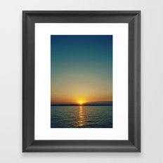 sunset . ii Framed Art Print