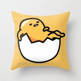 Lazy Egg 2 Throw Pillow