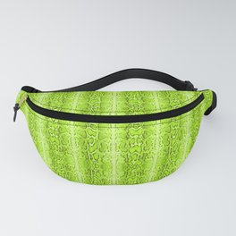 Green Snake Skin Animal print Wild Nature Fanny Pack