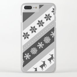 Christmas Pattern #2 Clear iPhone Case