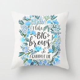 Big Brows – Blue Palette Throw Pillow