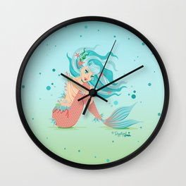 Monster Mermaid Pin-Up Wall Clock