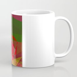 Pink Roses in Anzures 4 Abstract Polygons 3 Coffee Mug