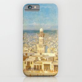 Islamic Masterpiece 'View of Cairo, Egypt' by Jéan Leon Gerome iPhone Case