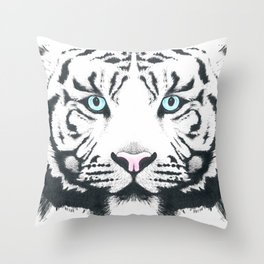 Blue Eyed Boy Throw Pillow