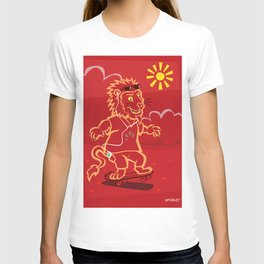 skateboarding Lion T-shirt