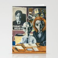 Stationery Cards featuring X-Files - Agent Grey by JessLane