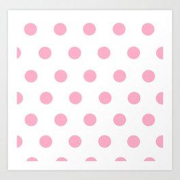 Pink Polka Dot Design Art Print