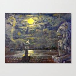 Night-time Spirit Cats Canvas Print
